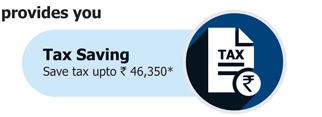 This fund provides you: Tax Saving  Save tax upto Rs. 46,350*